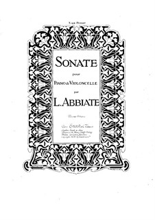 Sonata for Cello and Piano in G Minor: partitura by Louis Abbiate