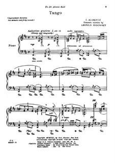 No.2 Tango: Concert version by Isaac Albéniz