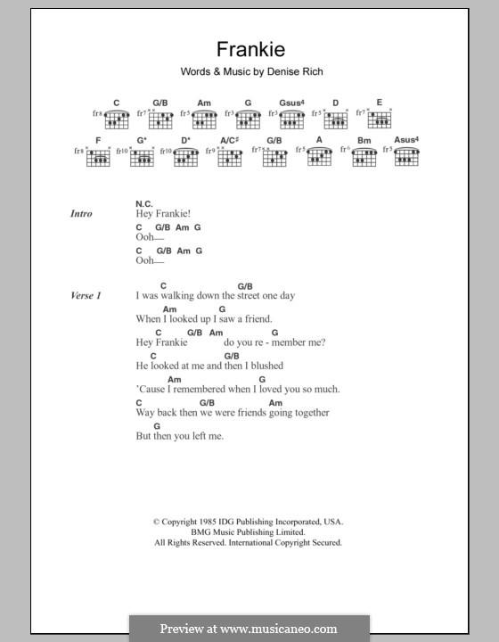 Frankie (Sister Sledge): Letras e Acordes by Denise Rich