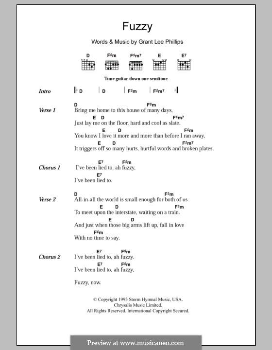 Fuzzy (Grant Lee Buffalo): Letras e Acordes by Grant Lee Phillips