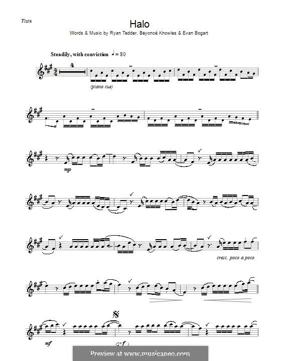 Halo: para flauta by Beyoncé, Evan Kidd Bogart, Ryan B Tedder