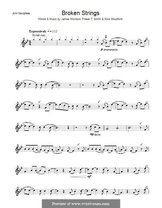 Broken Strings (James Morrison feat. Nelly Furtado): para Saxofone Alto by Fraser T. Smith, James Morrison, Nina Woodford