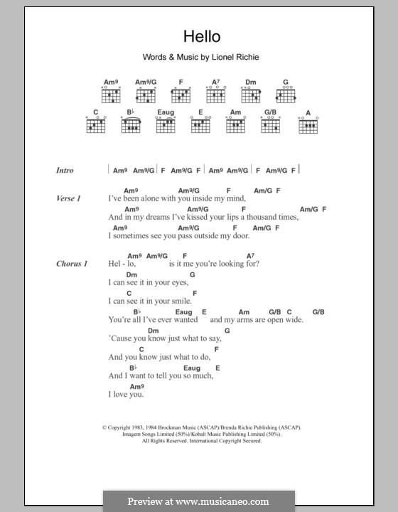 Hello: Letras e Acordes by Lionel Richie