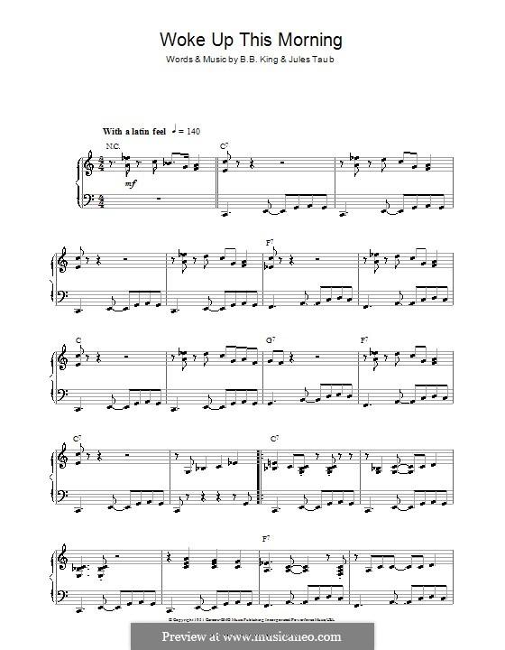 Woke Up This Morning: Para Piano by B.B. King, Jules Taub