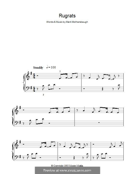 Rugrats Theme: Facil para o piano by Mark Mothersbaugh