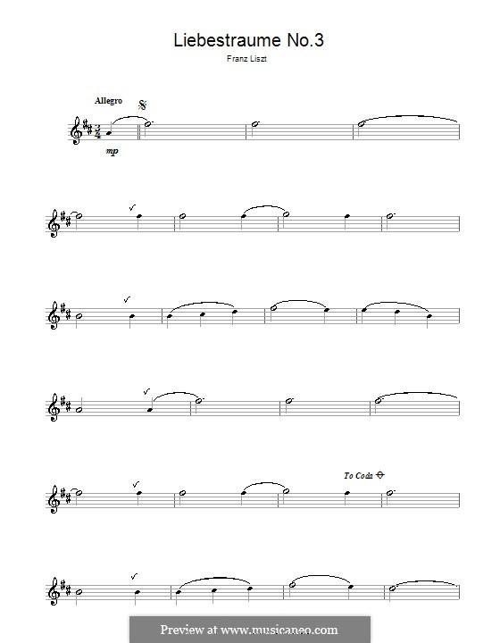 Nocturne No.3: Version for saxophone by Franz Liszt