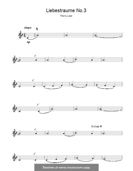 Nocturne No.3: versão para clarinete by Franz Liszt