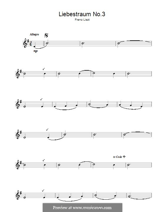 Nocturne No.3: Versão para flauta  by Franz Liszt