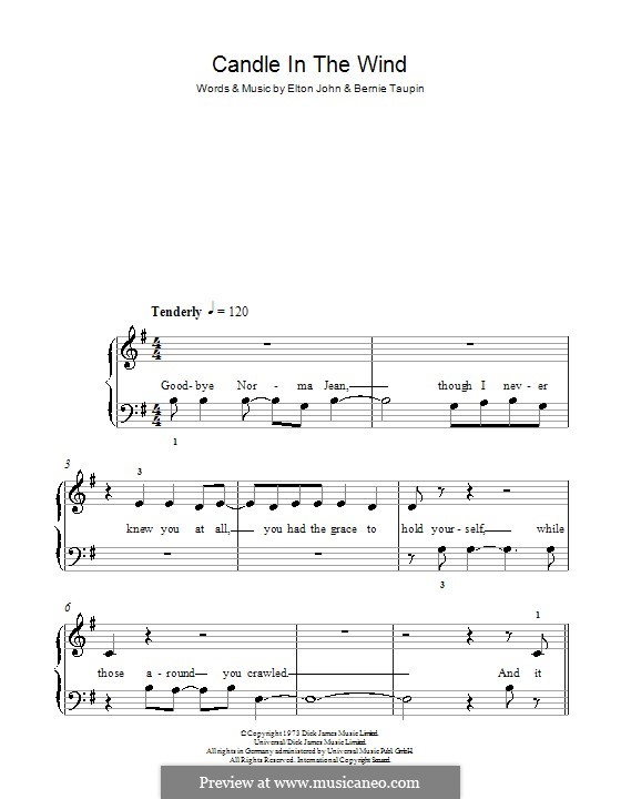 Candle in the Wind: Facil para o piano by Elton John
