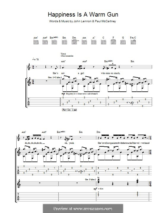 Happiness is a Warm Gun (The Beatles): Para guitarra com guia by John Lennon, Paul McCartney