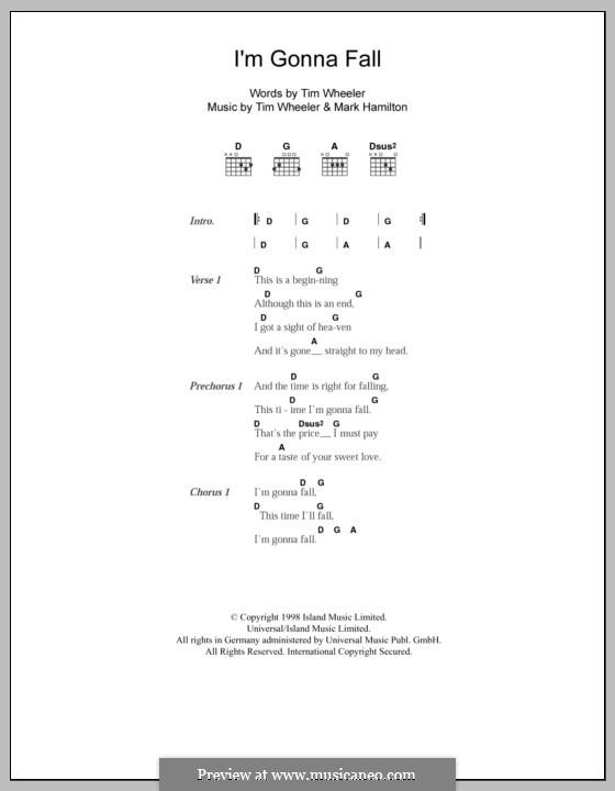 I'm Gonna Fall (Ash): Letras e Acordes by Tim Wheeler, Mark Hamilton