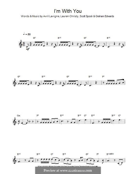 I'm with You: para clarinete by Avril Lavigne, Graham Edwards, Lauren Christy, Scott Spock