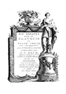 All Sonatas, W B10-15a: partitura para dois musicos by Johann Christian Bach