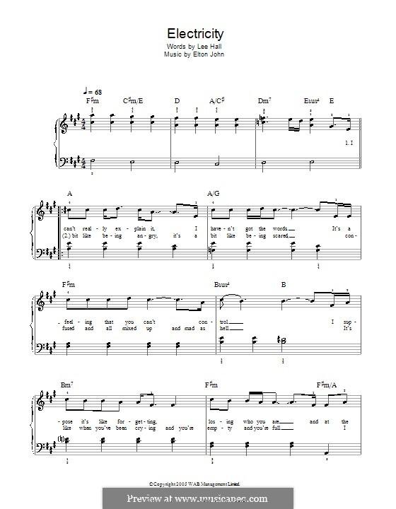 Electricity: Facil para o piano by Elton John