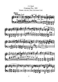 Nimm von uns, Herr, du treuer Gott, BWV 101: Partitura piano-vocal by Johann Sebastian Bach