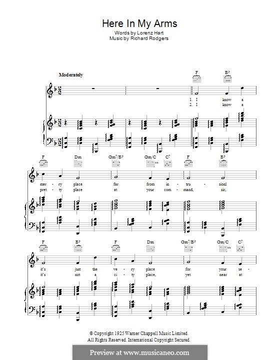 Here in My Arms: Para vocais e piano (ou Guitarra) by Richard Rodgers