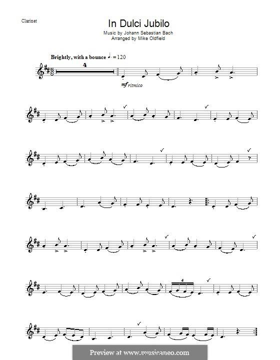 In Dulci Jubilo: para clarinete by Johann Sebastian Bach