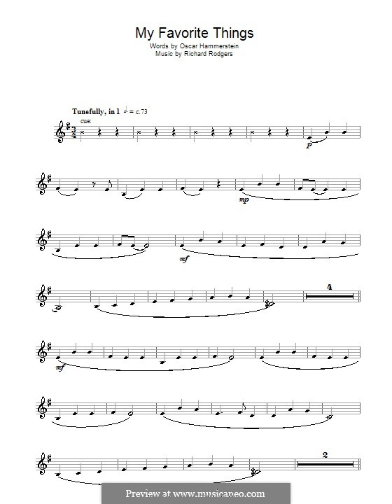 My Favorite Things (from The Sound of Music): para clarinete by Richard Rodgers