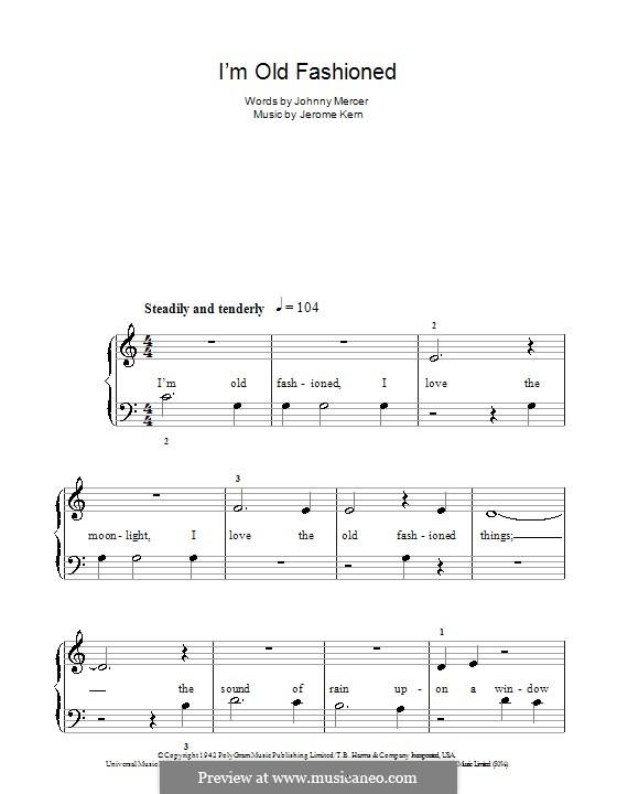 I'm Old Fashioned: Facil para o piano by Jerome Kern