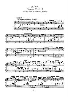 Mache dich, mein Geist, bereit, BWV 115: Partitura piano-vocal by Johann Sebastian Bach