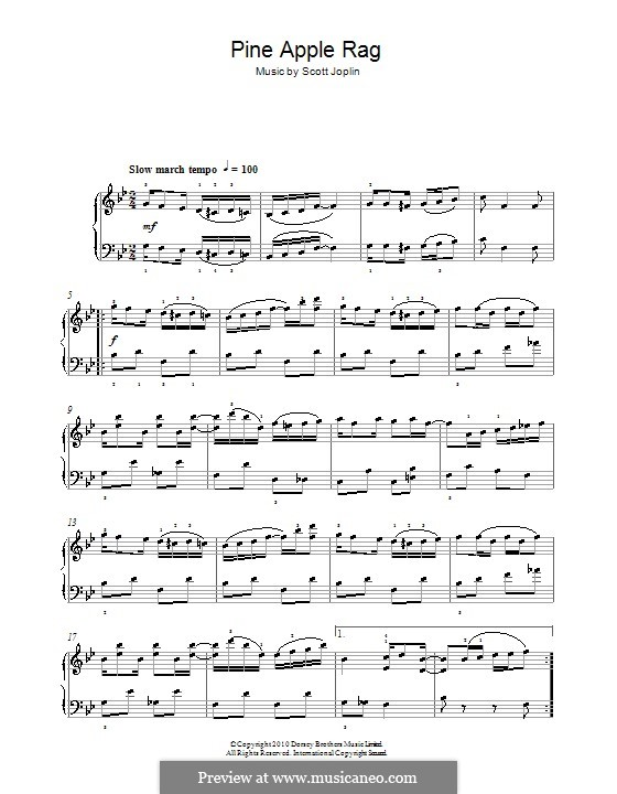 Pineapple Rag: Facil para o piano by Scott Joplin