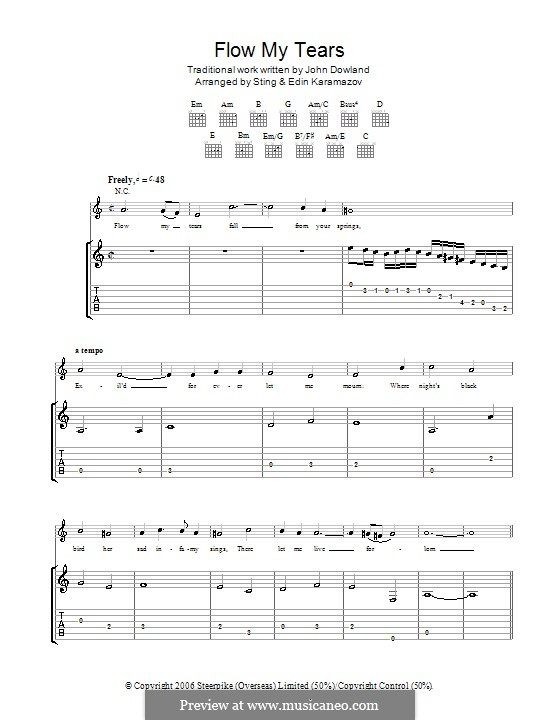 Flow My Tears (Lachrimae Antiquae): For guitar (Sting) by John Dowland