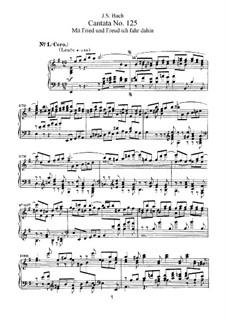 Mit Fried und Freud ich fahr dahin, BWV 125: Partitura piano-vocal by Johann Sebastian Bach