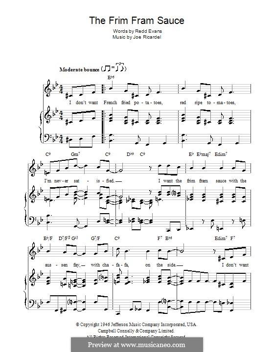 The Frim Fram Sauce: Para vocais e piano (ou Guitarra) by Joe Ricardel