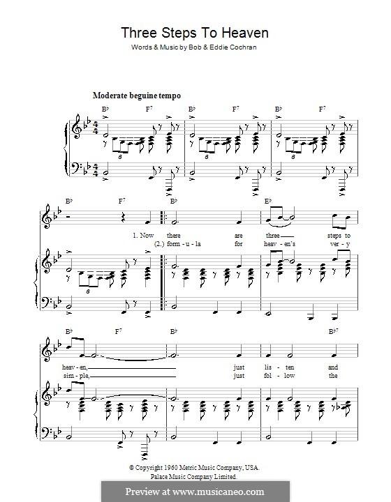 Three Steps to Heaven: Para vocais e piano (ou Guitarra) by Bobby Cochran, Eddie Cochran
