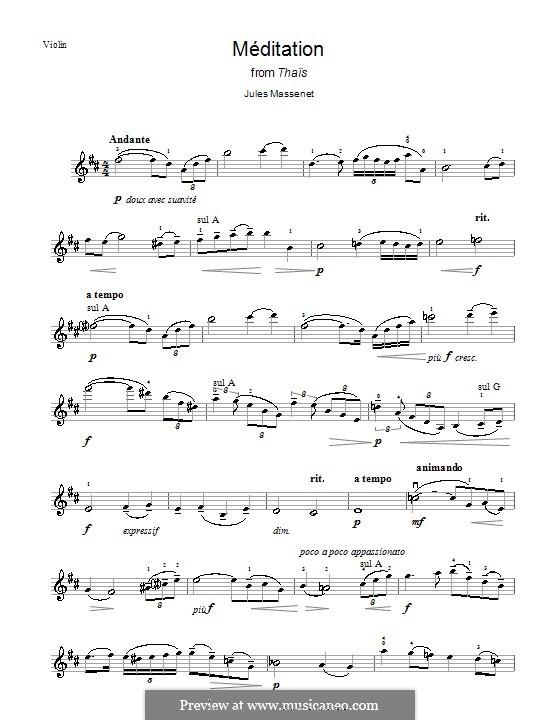 Meditation: para violino by Jules Massenet