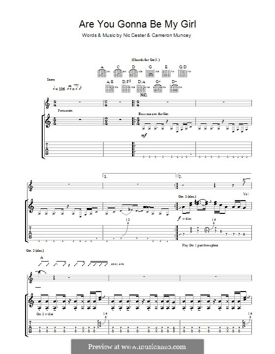 Are You Gonna Be My Girl (Jet): Para Guitarra by Cameron Muncey, Nic Cester
