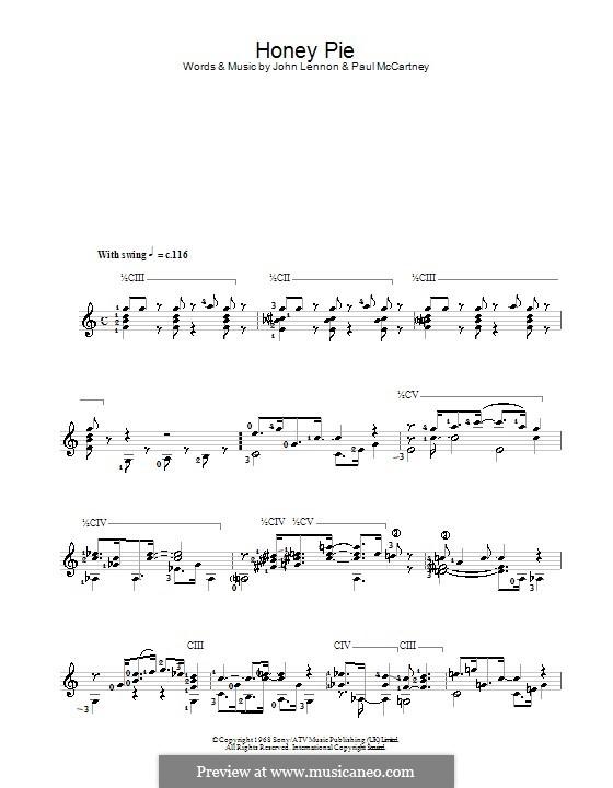 Honey Pie (The Beatles): Para Guitarra by John Lennon, Paul McCartney
