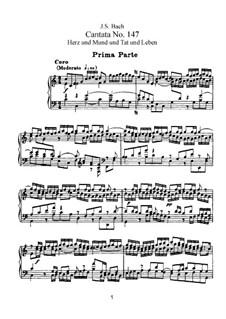 Complete set: Partitura Piano-vocal by Johann Sebastian Bach