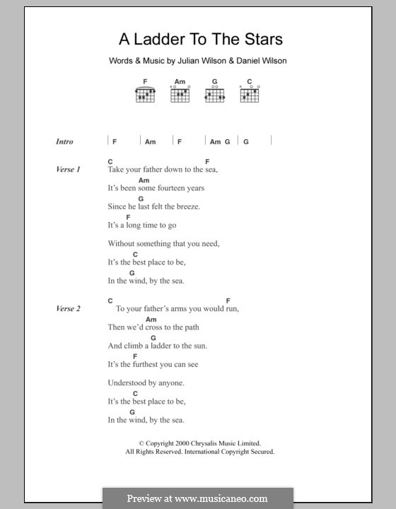 A Ladder to the Stars (Grand Drive): Letras e Acordes by Daniel Wilson, Julian Wilson