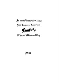 Tue Rechnung! Donnerwort, BWV 168: Partitura completa by Johann Sebastian Bach
