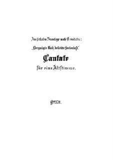 Vergnügte Ruh, beliebte Seelenlust, BWV 170: Partitura completa by Johann Sebastian Bach