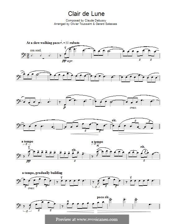 No.3 Clair de lune: para violoncelo by Claude Debussy