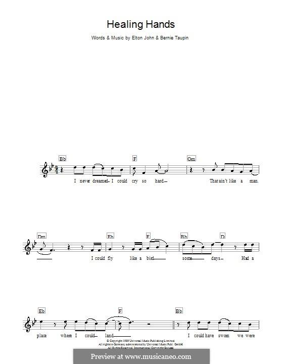 Healing Hands: melodía,letras e acordes by Elton John