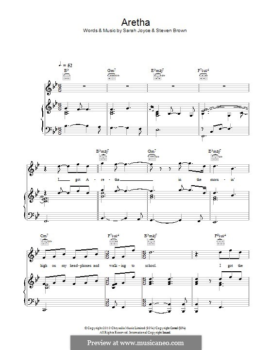 Aretha (Rumer): Para vocais e piano (ou Guitarra) by Christopher Steven Brown, Sarah Joyce