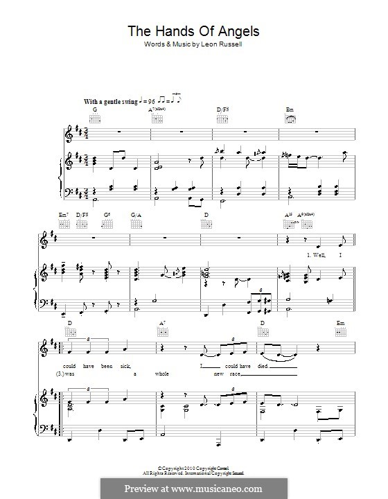 In the Hands of Angels: Para vocais e piano (ou Guitarra) by Leon Russell
