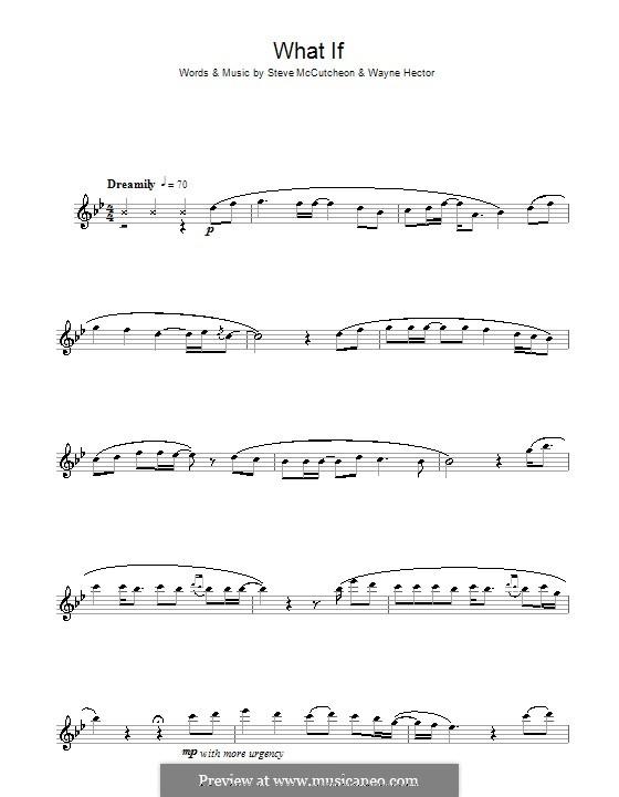 What If (Kate Winslet): para flauta by Steve Mac, Wayne Anthony Hector