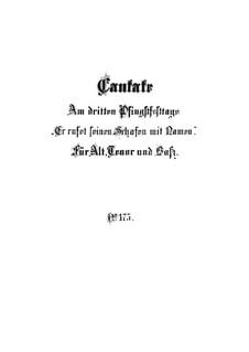 Er rufet seinen Schafen mit Namen (He Calls His Sheep by Name), BWV 175: Partitura completa by Johann Sebastian Bach