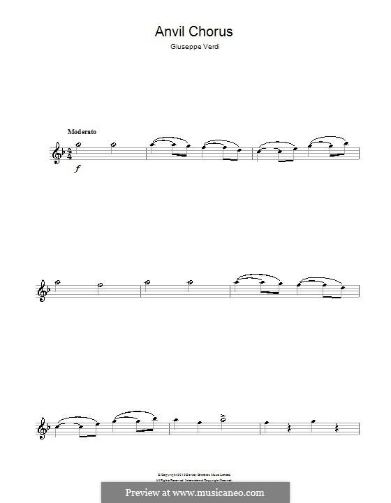 Anvil Chorus: para flauta by Giuseppe Verdi