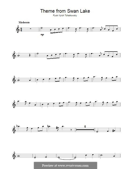 No.14 Scène: Arrangement for alto saxophone and piano – solo part (Theme) by Pyotr Tchaikovsky