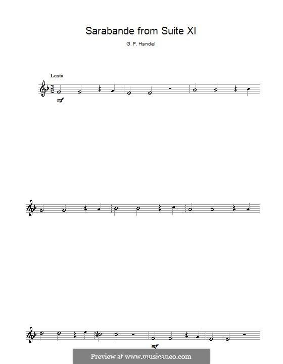 Suite in F Major: Sarabande, for flute by Georg Friedrich Händel