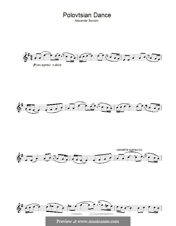 Polovtsian Dances: para Saxofone Alto by Alexander Borodin