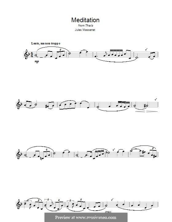 Meditation: para clarinete by Jules Massenet