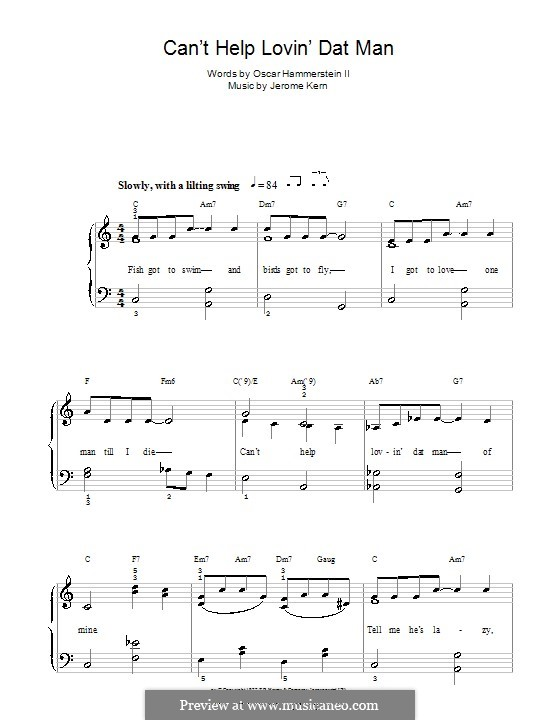 Can't Help Lovin' Dat Man (from Show Boat): Facil para o piano by Jerome Kern