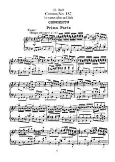 Es wartet alles auf dich (Everything Depends on You), BWV 187: arranjos para vozes e piano by Johann Sebastian Bach