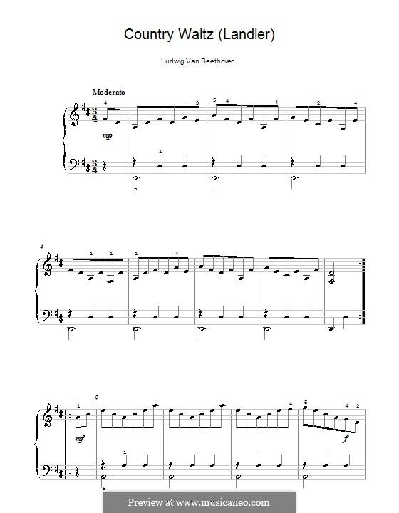 Seven Ländler, WoO 11: Ländler No.3 by Ludwig van Beethoven